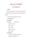 Giáo án Anh văn lớp 6 : Tên bài dạy : Unit two: AT SCHOOL C1 - (P26 - 27)