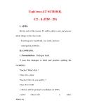 Giáo án Anh văn lớp 6 : Tên bài dạy : Unit two:AT SCHOOL C2 - 4 (P28 - 29)