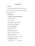Giáo án Anh văn lớp 6 : Tên bài dạy : WRITTEN TEST