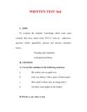 Giáo án Anh văn lớp 6 : Tên bài dạy : WRITTEN TEST 3nd
