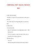 Giáo án Mỹ thuật lớp 6 : Tên bài dạy : CHÉP HOẠ TIẾT TRANG TRÍ DÂN TỘC