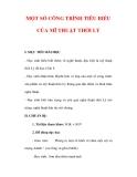 Giáo án Mỹ thuật lớp 6 : Tên bài dạy : MỘT SỐ CÔNG TRÌNH TIÊU BIỂU CỦA MĨ THUẬT THỜI LÝ