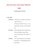 Giáo án Âm nhạc lớp 6 : Tên bài dạy : ÔN TẬP HÁT: NGÀY ĐẦU TIÊN ĐI HỌC