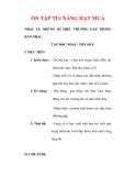 Giáo án Âm nhạc lớp 6 : Tên bài dạy : ÔN TẬP TIA NẮNG HẠT MƯA