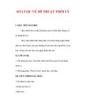 Giáo án Mỹ thuật lớp 6 : Tên bài dạy : SƠ LƯỢC VỀ MĨ THUẬT THỜI LÝ
