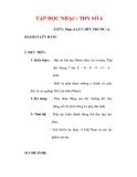Giáo án Âm nhạc lớp 6 : Tên bài dạy : TẬP ĐỌC NHẠC: TĐN SỐ 4