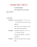 Giáo án Âm nhạc lớp 6 : Tên bài dạy : TẬP ĐỌC NHẠC: TĐN số 3