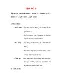 Giáo án Âm nhạc lớp 6 : Tên bài dạy : TĐN SỐ 9