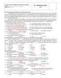 Đề kiểm tra 1 tiết Tiếng Anh 12 (Kèm theo đáp án)