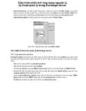 Giáo trình phân tích ứng dụng nguyên lý kỹ thuật quản lý trong Exchange server p1
