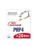 SAMS Teach Yourself PHP4 in 24 Hours phần 1