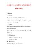 Giáo án ĐỊa lý lớp 7 : Tên bài dạy : DI DÂN VÀ SỰ BÙNG NỔ ĐÔ THỊ Ở ĐỚI NÓNG