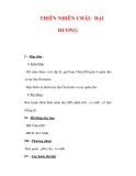 Giáo án ĐỊa lý lớp 7 : Tên bài dạy : THIÊN NHIÊN CHÂU ĐẠI DƯƠNG