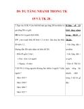 Giáo án ĐỊa lý lớp 7 : Tên bài dạy : DS TG TĂNG NHANH TRONG TK 19 VÀ TK 20 .
