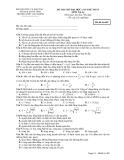 ĐỀ THI THỬ ĐẠI HỌC LẦN THỨ NHẤT MÔN Vật Lý - Mã đề thi 485