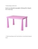 10 kiểu bàn đáng yêu dành cho bé