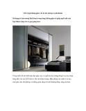 Nới rộng không gian với tủ âm tường royalcabinet