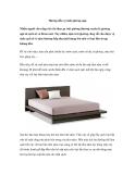 Hướng dẫn vệ sinh giường ngủ