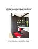 Ý tưởng trang trí phòng tắm với gam màu tối