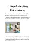 12 bí quyết cho phòng khách ấn tượng
