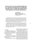 """Báo cáo khoa học: """"vai trò của các tài liệu h-ớng dẫn môn học, các loại sách tham khảo của các môn khoa học mác lê nin, t- t-ởng Hồ Chí Minh đối với quá trình học tập của sinh viên hiện nay"""""""