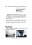 Báo cáo khoa học: Phân tích ổn định khí động của cầu dây văng Bãi cháy