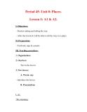 Giáo án Anh văn lớp 7 : Tên bài dạy : Period 45- Unit 8: Places. Lesson 1: A1 & A2.
