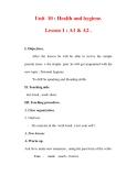 Giáo án Anh văn lớp 7 : Tên bài dạy : Unit 10 : Health and hygiene. Lesson 1 : A1 & A2 .