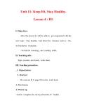 Giáo án Anh văn lớp 7 : Tên bài dạy : Unit 11: Keep Fit, Stay Healthy. Lesson 4 : B3.