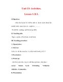 Giáo án Anh văn lớp 7 : Tên bài dạy : Unit 13: Activities. Lesson 3. B 1.