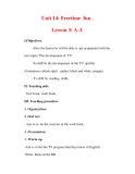 Giáo án Anh văn lớp 7 : Tên bài dạy : Unit 14: Freetime fun . Lesson 3: A-3.