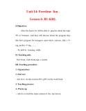 Giáo án Anh văn lớp 7 : Tên bài dạy : Unit 14: Freetime fun . Lesson 4: B1 &B2.