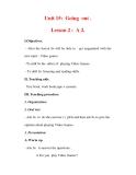 Giáo án Anh văn lớp 7 : Tên bài dạy : Unit 15: Going out . Lesson 2 : A 2.