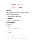 Giáo án Anh văn lớp 7 : Tên bài dạy : Unit 15: Going out . Lesson 4 : B 2-3 .