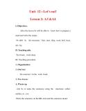 Giáo án Anh văn lớp 7 : Tên bài dạy : Unit 12 : Let's eat! Lesson 2: A3 &A4