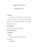 Giáo án Anh văn lớp 7 : Tên bài dạy : Unit 12: Let's eat! Lesson 4: B -2 .