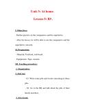 Giáo án Anh văn lớp 7 : Tên bài dạy : Unit 3: At home. Lesson 5: B5 .