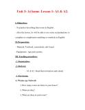 Giáo án Anh văn lớp 7 : Tên bài dạy : Unit 3: At home. Lesson 1: A1 & A2.
