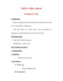 Giáo án Anh văn lớp 7 : Tên bài dạy : Unit 6: After school. Lesson 2: A2.
