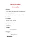 Giáo án Anh văn lớp 7 : Tên bài dạy : Unit 6: After school. Lesson 4: B1.