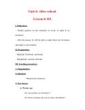 Giáo án Anh văn lớp 7 : Tên bài dạy : Unit 6: After school. Lesson 6: B3.