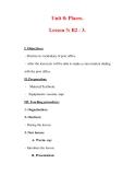 Giáo án Anh văn lớp 7 : Tên bài dạy : Unit 8: Places. Lesson 3: B2 - 3.
