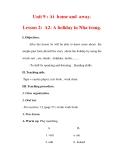 Giáo án Anh văn lớp 7 : Tên bài dạy : Unit 9 : At home and away. Lesson 2: A2- A holiday in Nha trang.