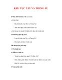 Giáo án Địa lý lớp 7 : Tên bài dạy : KHU VỰC TÂY VÀ TRUNG ÂU