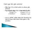 Bài giảng hóa học đại cương - Ankine part 2