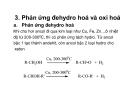Bài giảng dẫn xuất Hydrocacbone - Dẫn xuất hydroxi (Ancol-Phenol-Ete) part 6