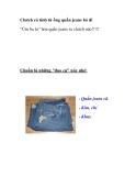 Clutch cá tính từ những ống quần jeans bỏ đi