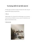 Xu hướng thiết kế nội thất mùa hè