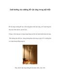 Ảnh hưởng của những đồ vật sáng trong nội thất