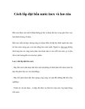 Cách lắp đặt bồn nước inox và lau rửa